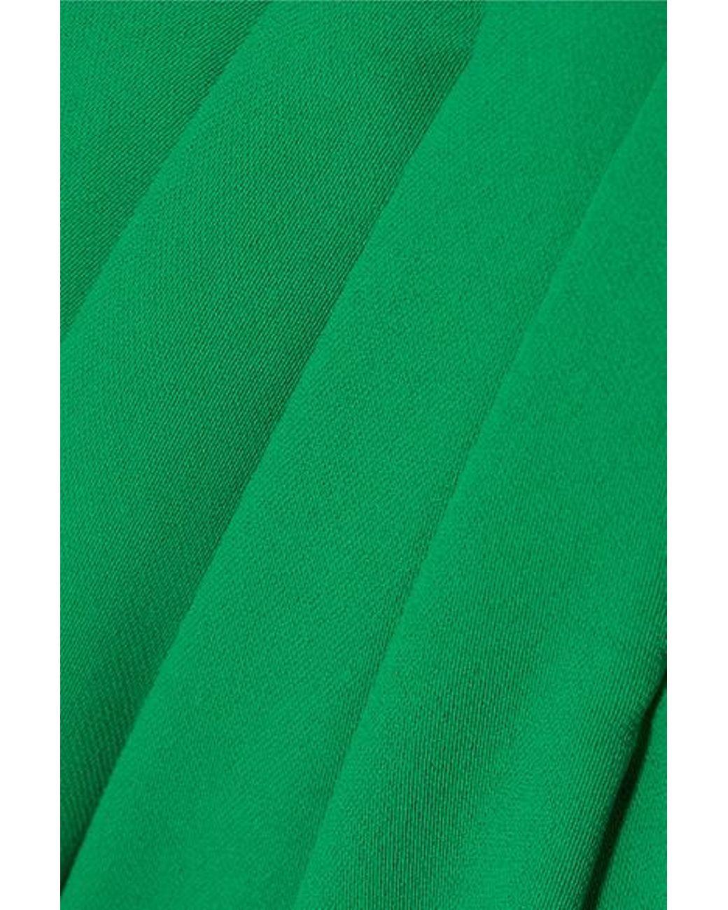 5e1350f5ea3 Marchesa notte Cape-effect Crepe Gown in Green - Lyst