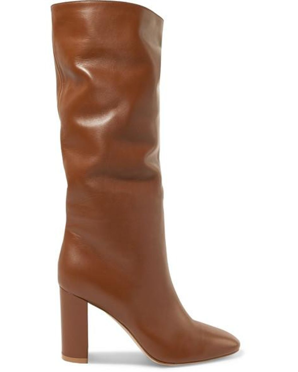 a3cd900a9e749 Gianvito Rossi Laura 85 Leather Knee Boots in Brown - Save 4% - Lyst