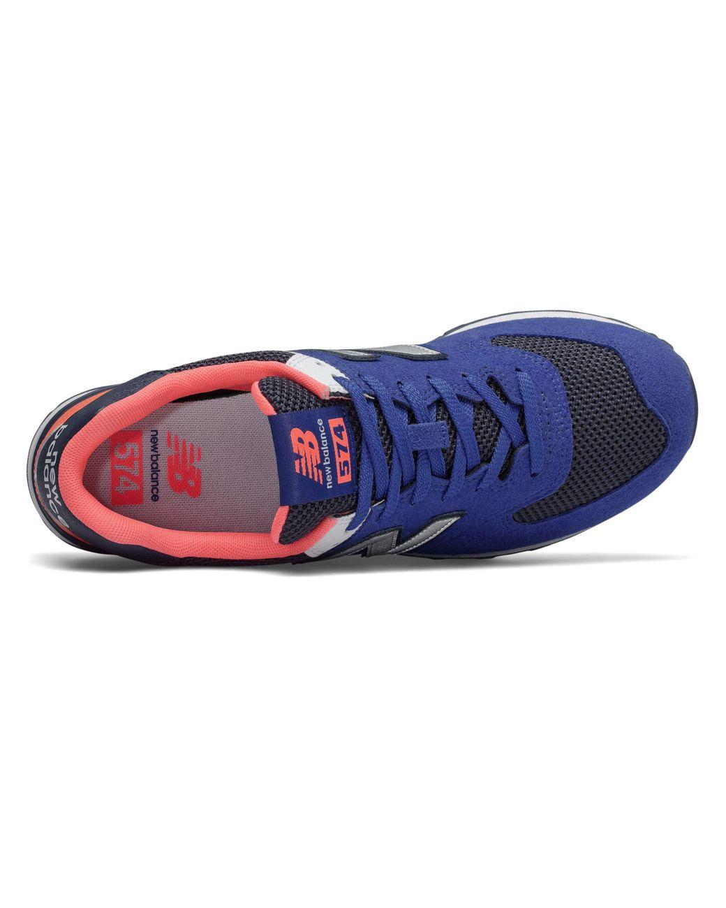 Men's Blue 574 Pebbled Sport