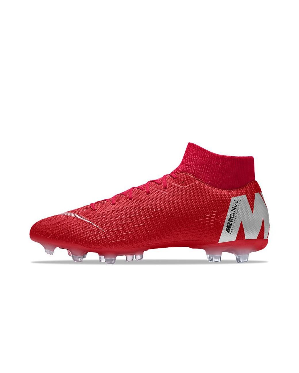 buy popular ded37 ee755 Men's Red Mercurial Superfly Vi Academy Mg Id Multi-ground Soccer Cleats