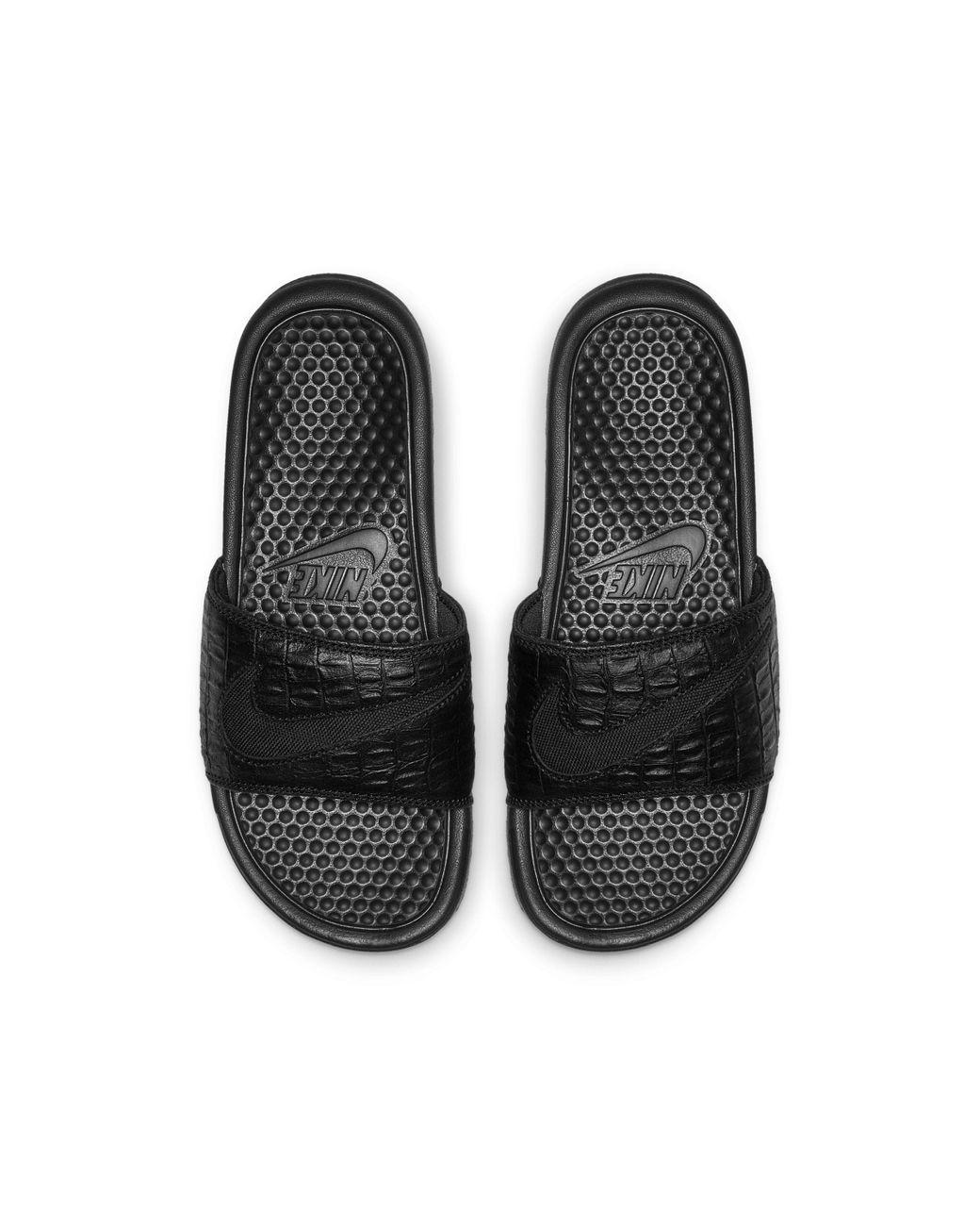 Nike Benassi Jdi Floral Damen Badeslipper Schwarz Nike in