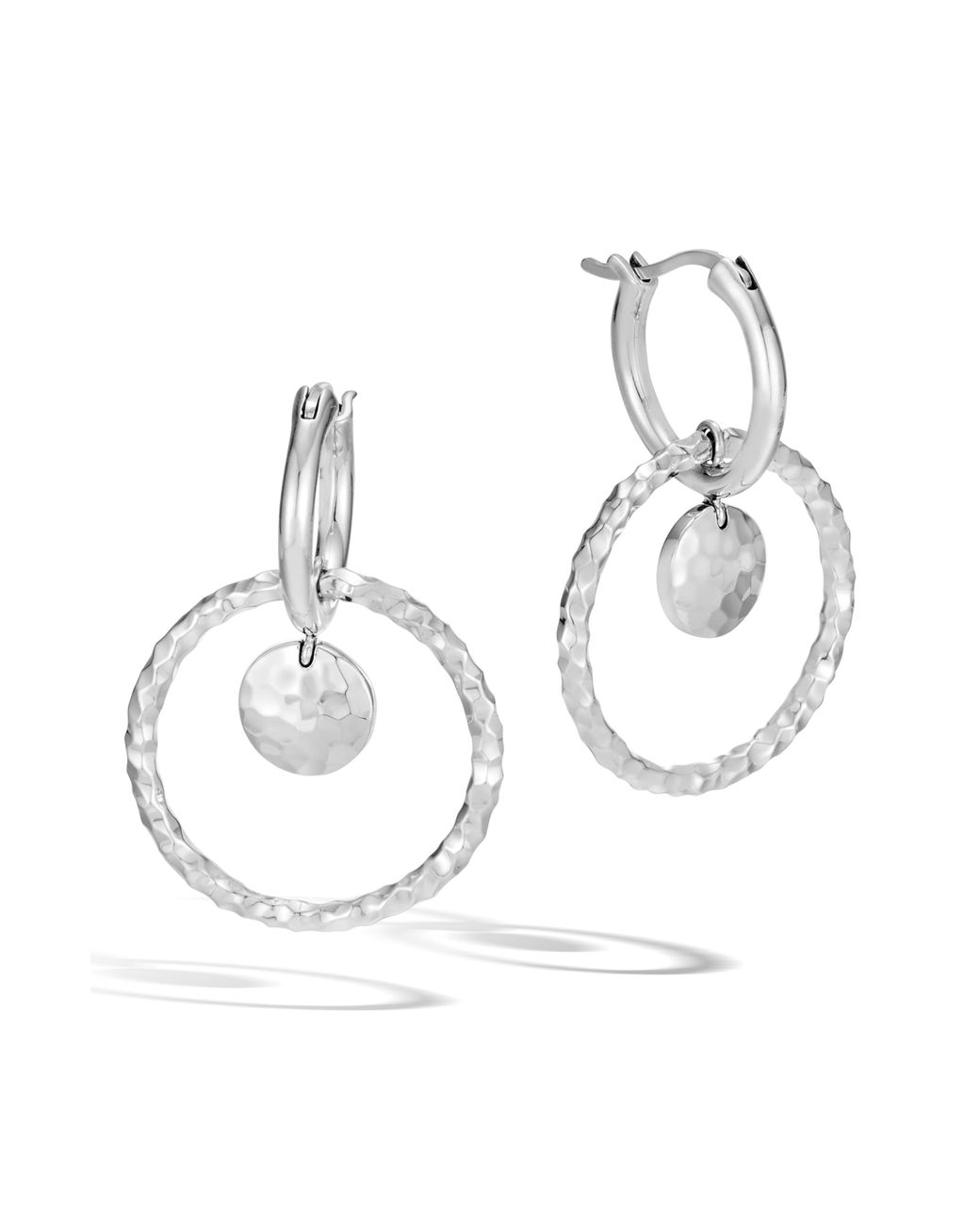 Diamond Accent Round Hoop Earrings 14k White Gold Over Sterling Silver $295