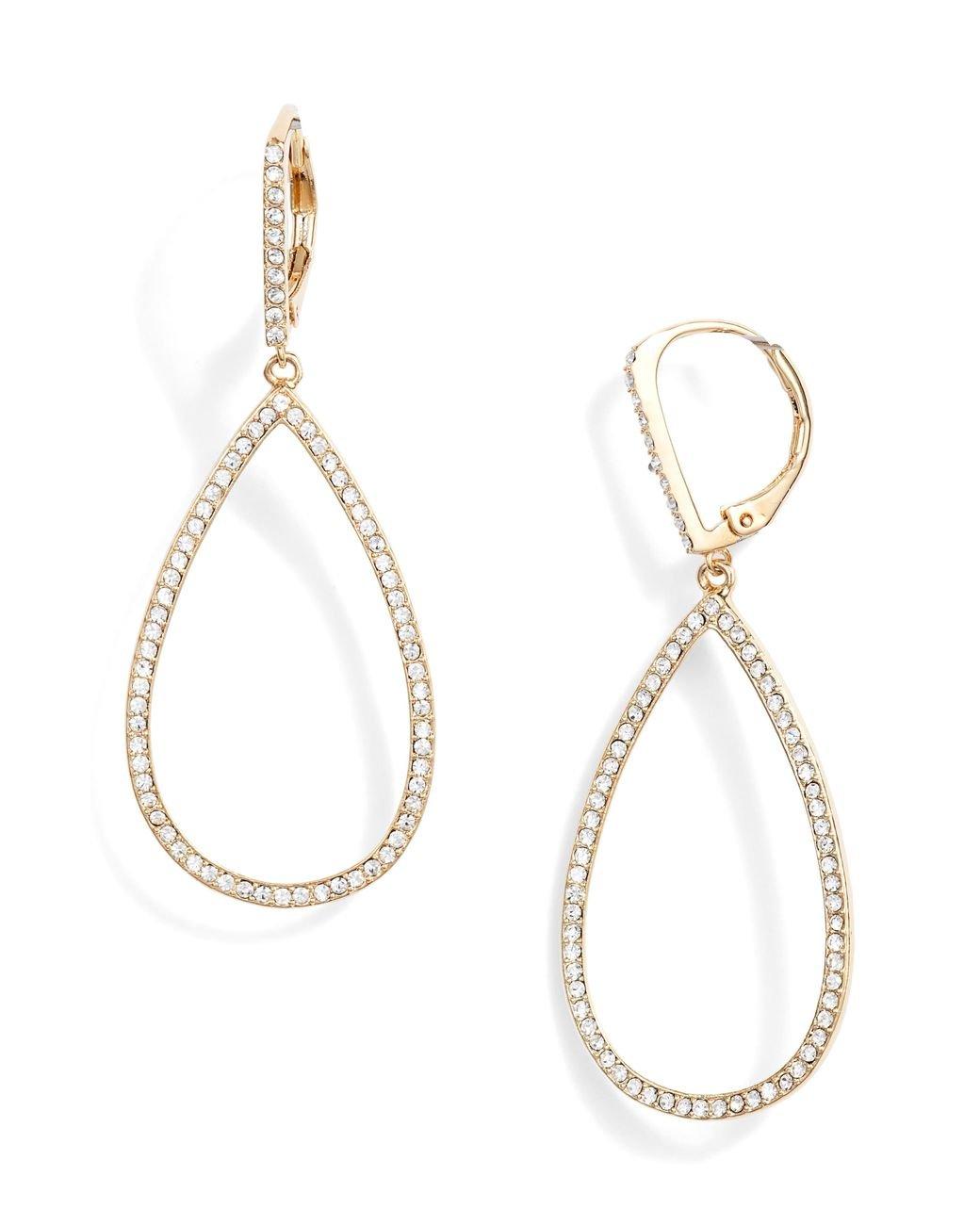 Pearlized Translucent Acetate Teardrop dangle Earrings