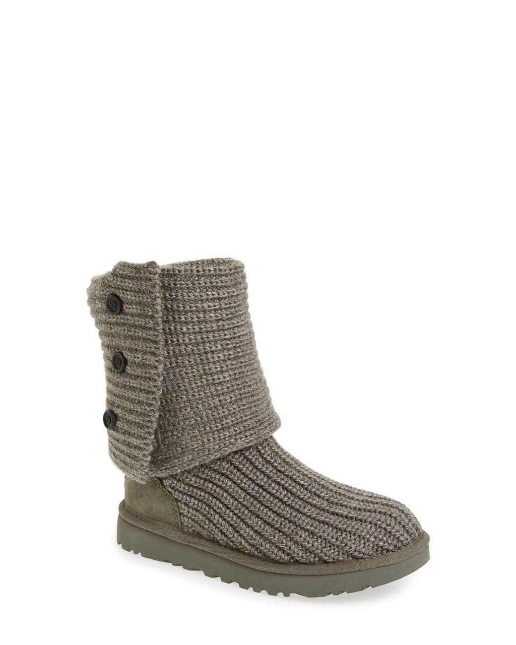 e9cd4a53b7c Women's Gray Ugg Classic Cardy Ii Knit Boot