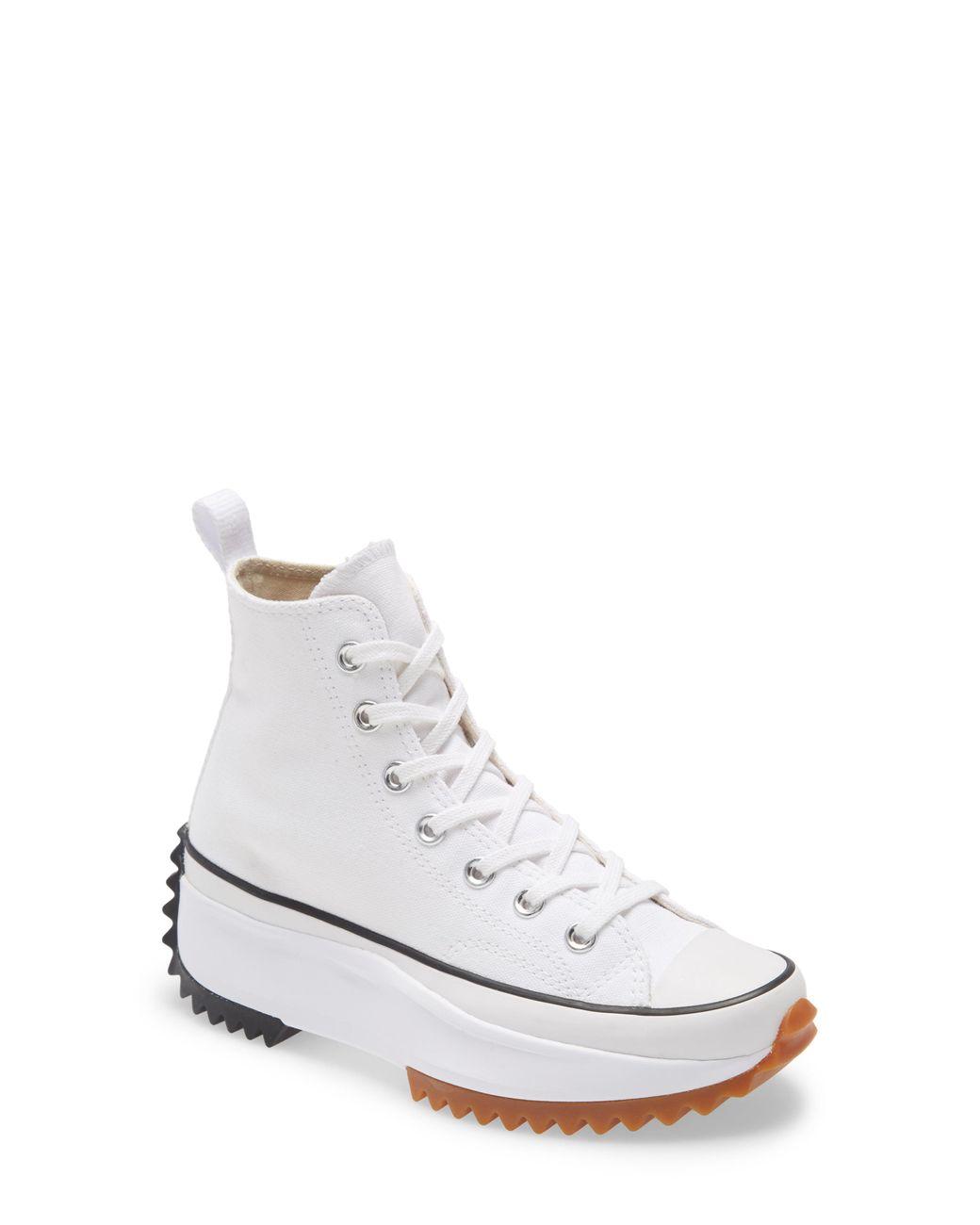 white platform sneakers high top