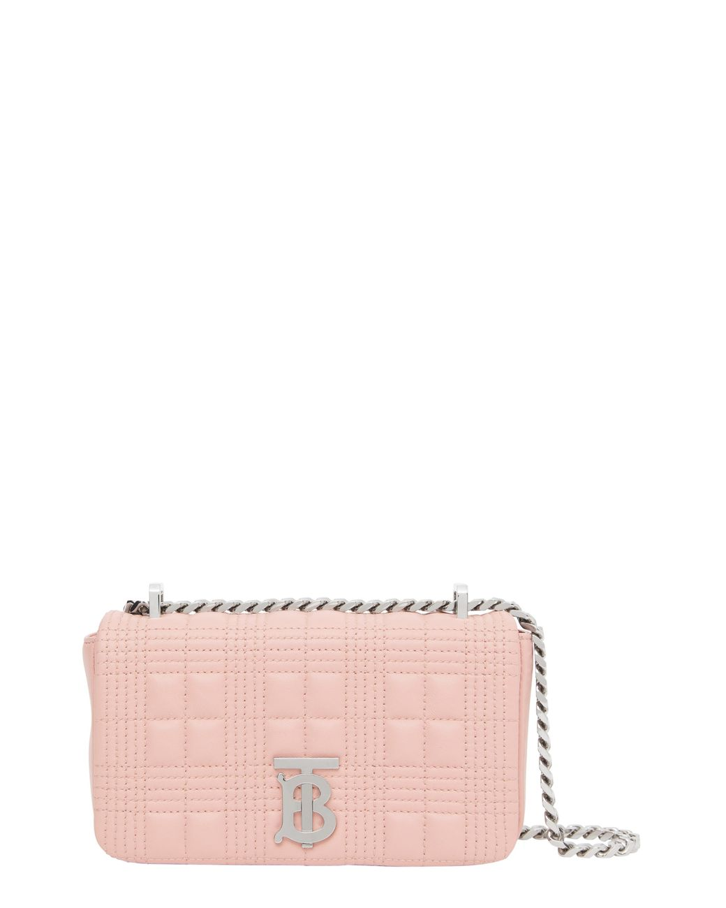 Burberry Leather Mini Lola Quilted Lambskin Bag in Blush Pink (Pink) - Lyst