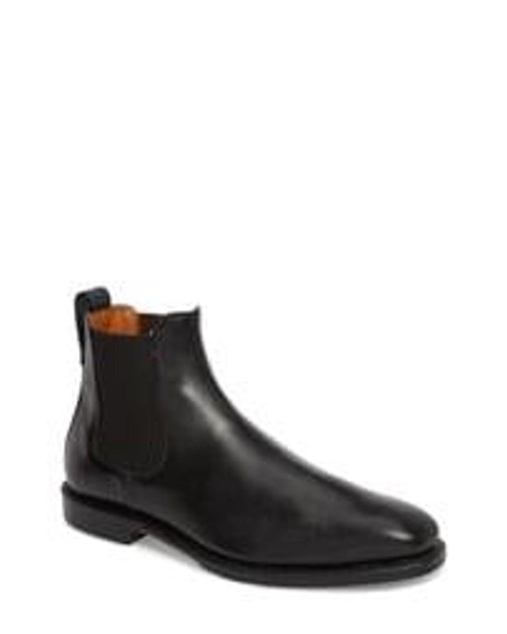 Allen Edmonds Leather Men S Liverpool Boot In Black Leather Brown For Men Lyst