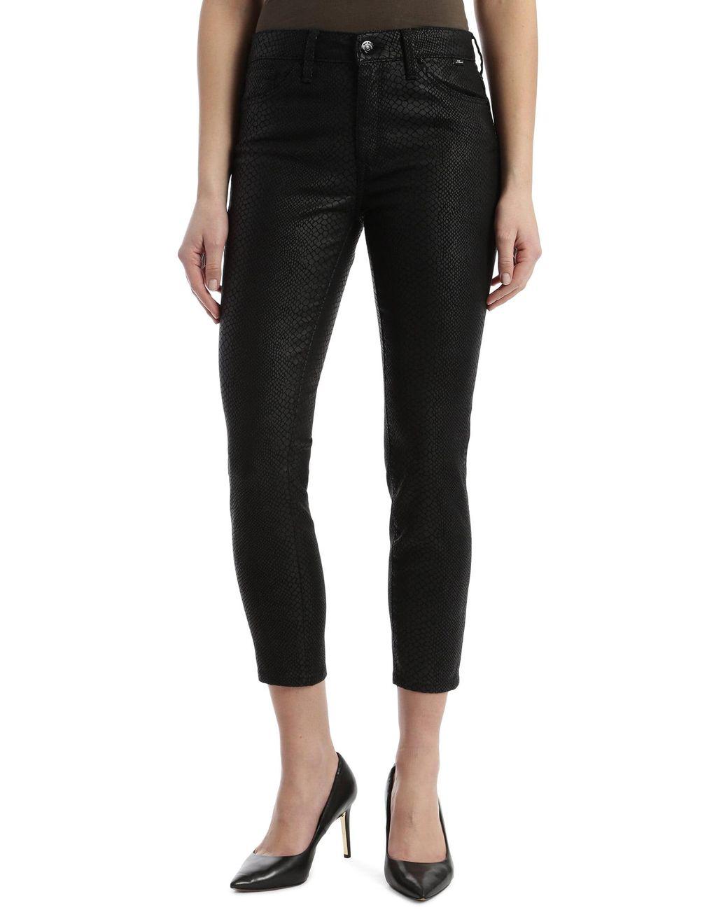 Men/'s Jeans Pants Coated Black Slim Fit Vintage Leo Gutti Coated