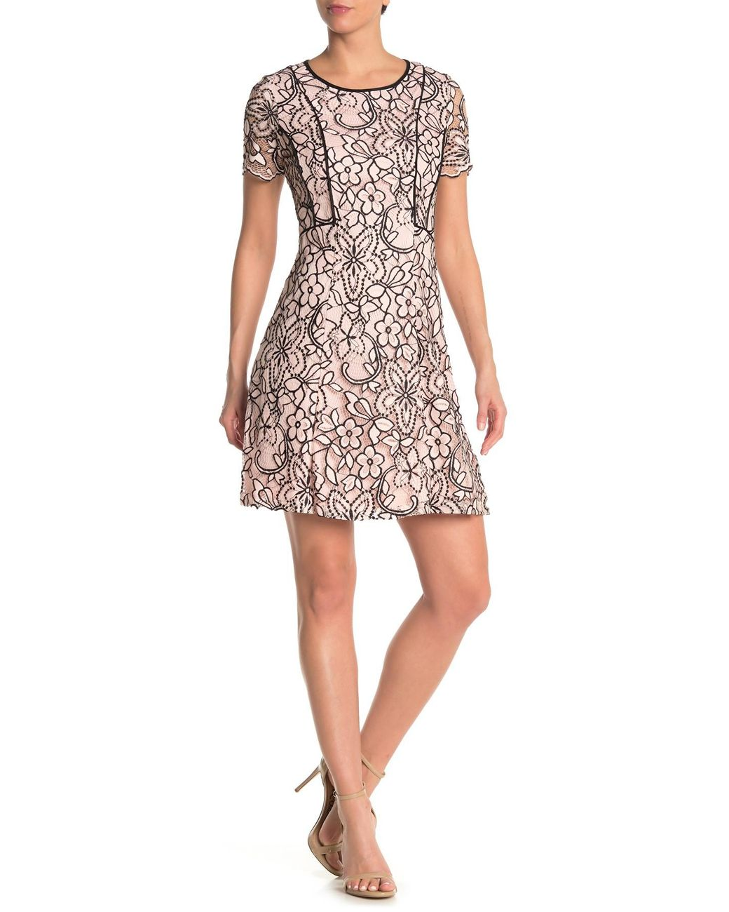 Business//Leger Sharagano Damen Double Breasted Shirt Dress Kleidung
