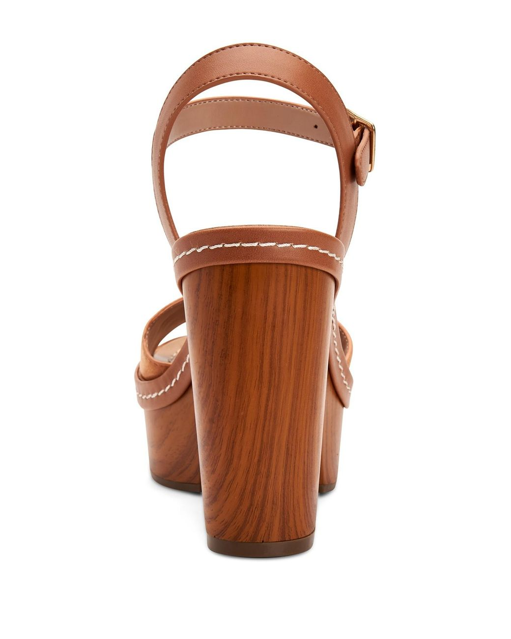 9c7deb077d34 BCBGeneration Zina Suede Wood Block Heel Platform Sandals in Brown - Lyst