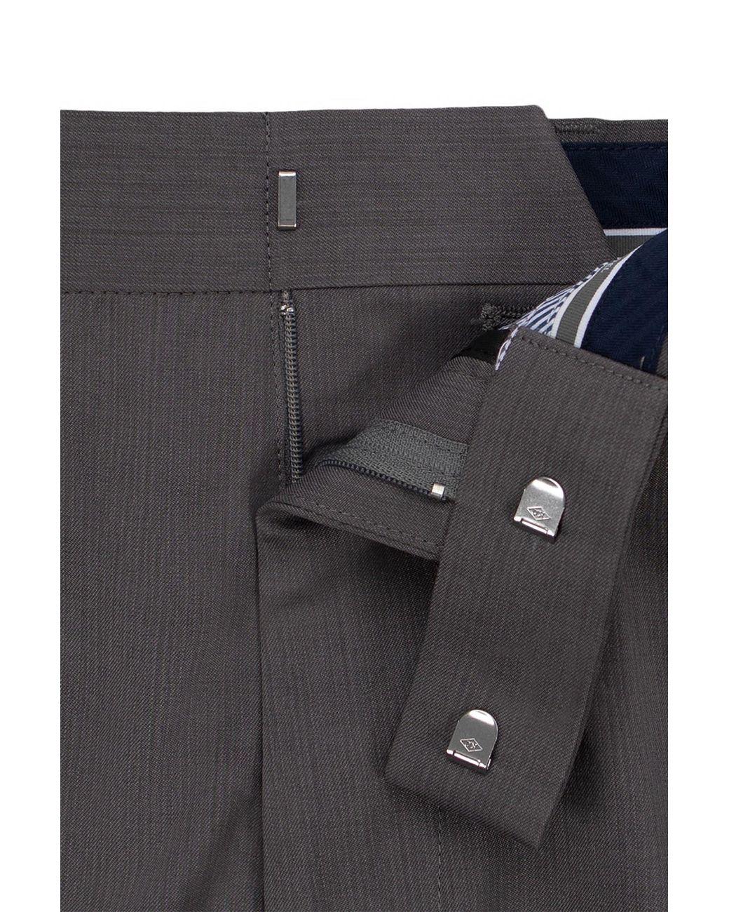 Sean John Classic Fit Black Birdseye Textured Flat Front Hemmed Dress Pants
