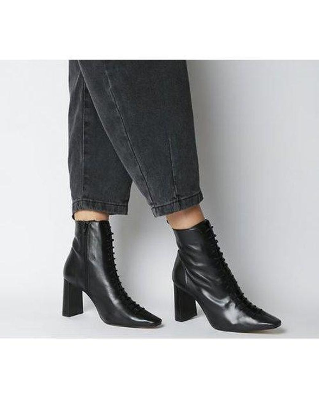 Office Affection- Block Heel Lace Up