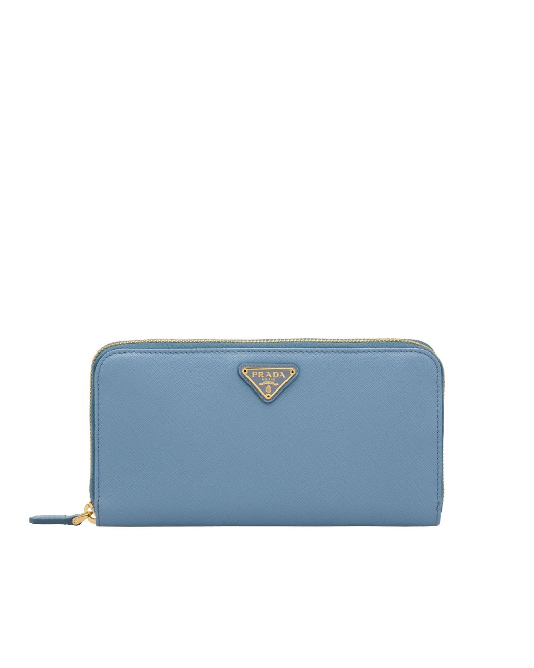 81c7cc3b20e3 Lyst - Prada Large Saffiano Leather Wallet in Blue