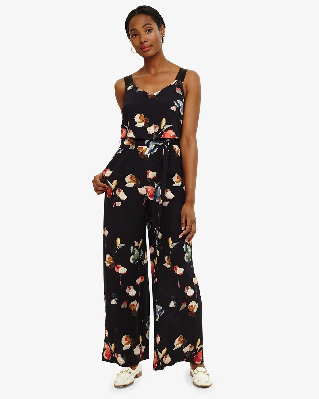 1cbdac1a732 Phase Eight Berdina Floral Jumpsuit in Blue - Lyst