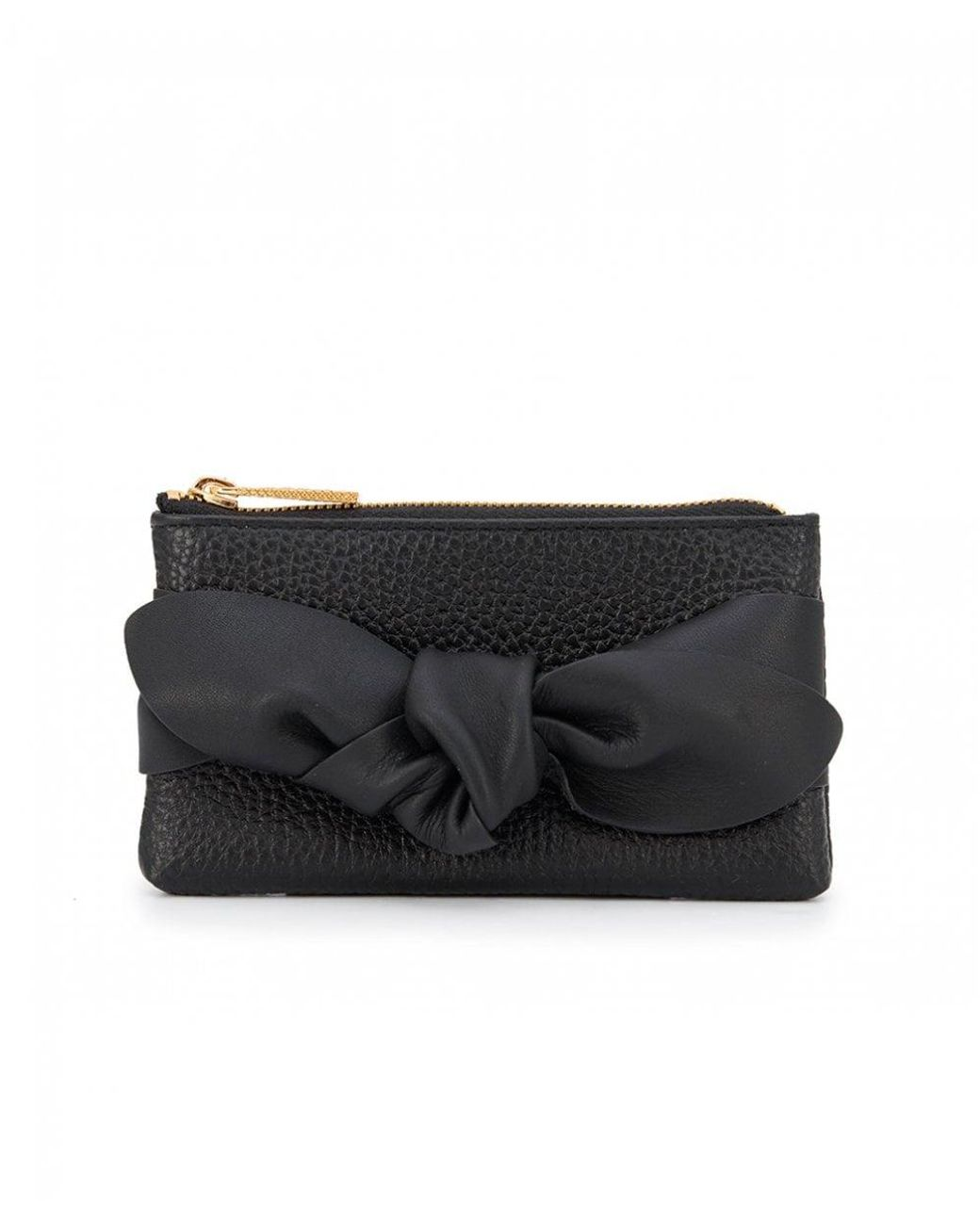 pretty nice 5d778 89888 Ted Baker Mellany Knotted Pouch Coin Purse in Black - Lyst