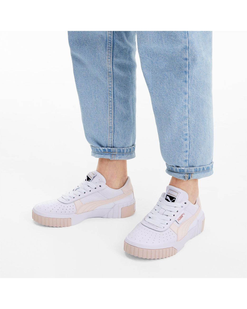 PUMA Leather Cali Women's Sneakers in White Lyst