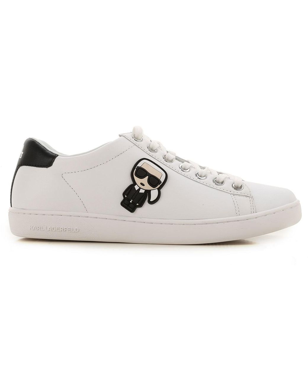 Karl Lagerfeld Karl Ikonik Lo Lace Trainers In White Save 7 Lyst