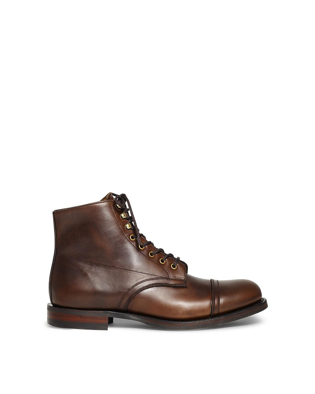 RRL Livingstone Leather Boot in Tan