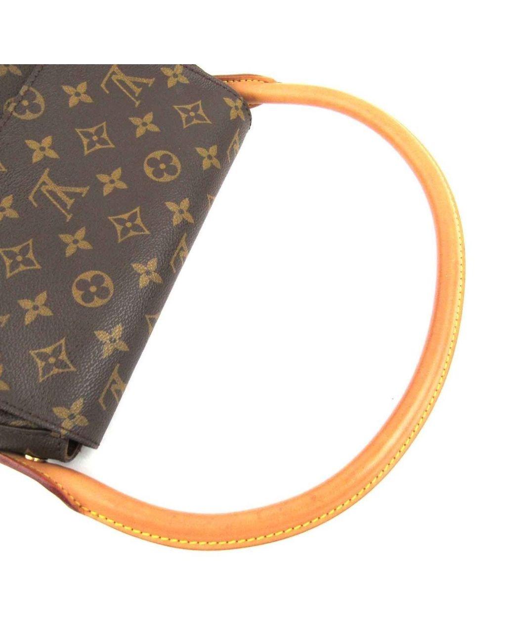 7e15acd11ea82 Louis Vuitton Authentic Mini Looping Flap Shoulder Bag Monogram Canvas  M51147 in Brown - Lyst