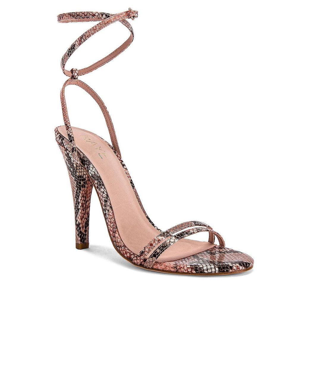 Raye Clara Heel In Mauve Pink Pink Lyst