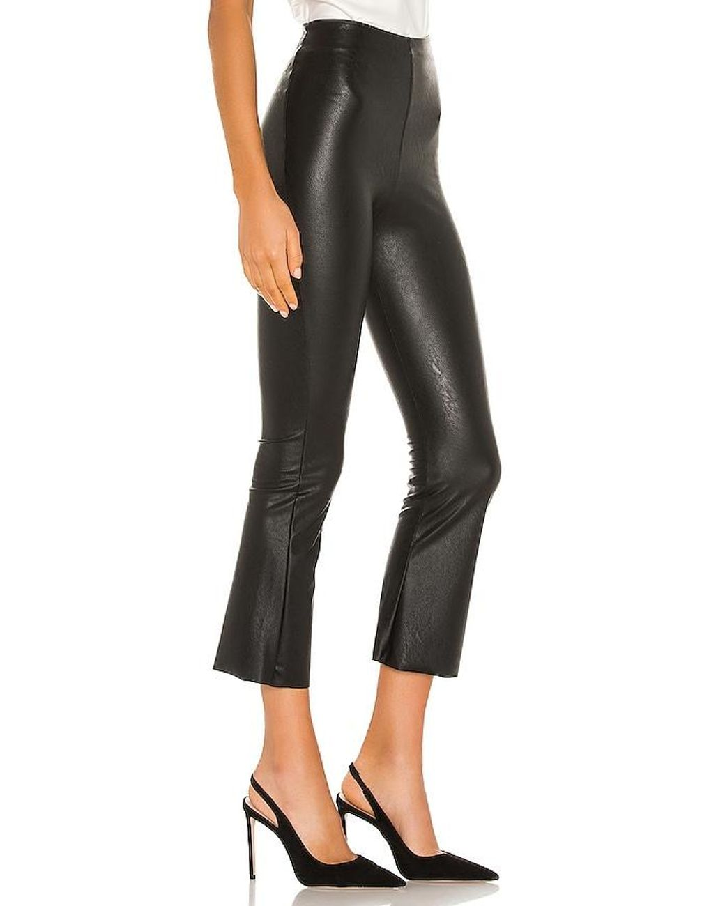 Commando Faux Leather Cropped Flare Pant in Black   Lyst