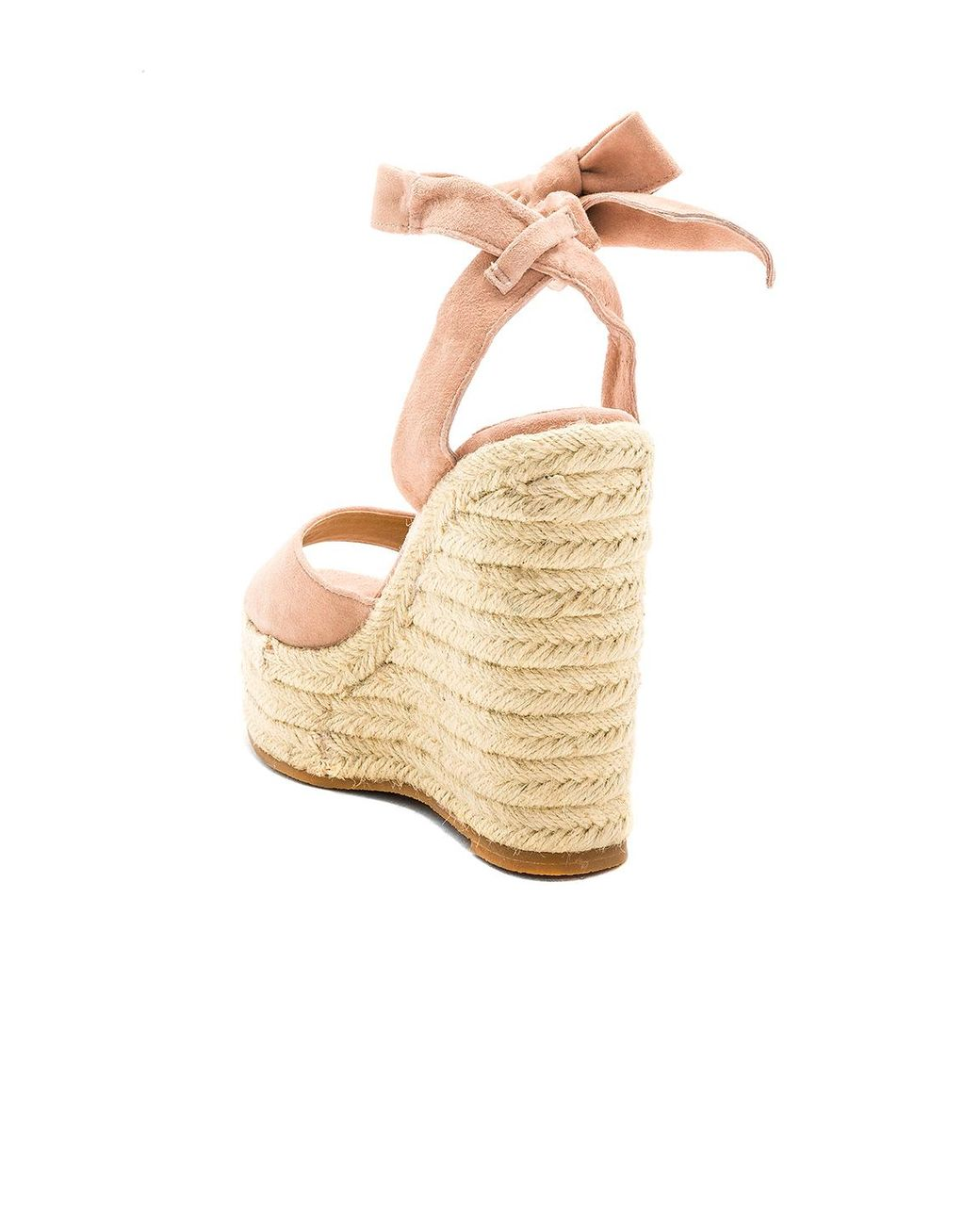 on feet images of many styles lowest discount Tony Bianco Suede Barca Wedge in Natural - Lyst