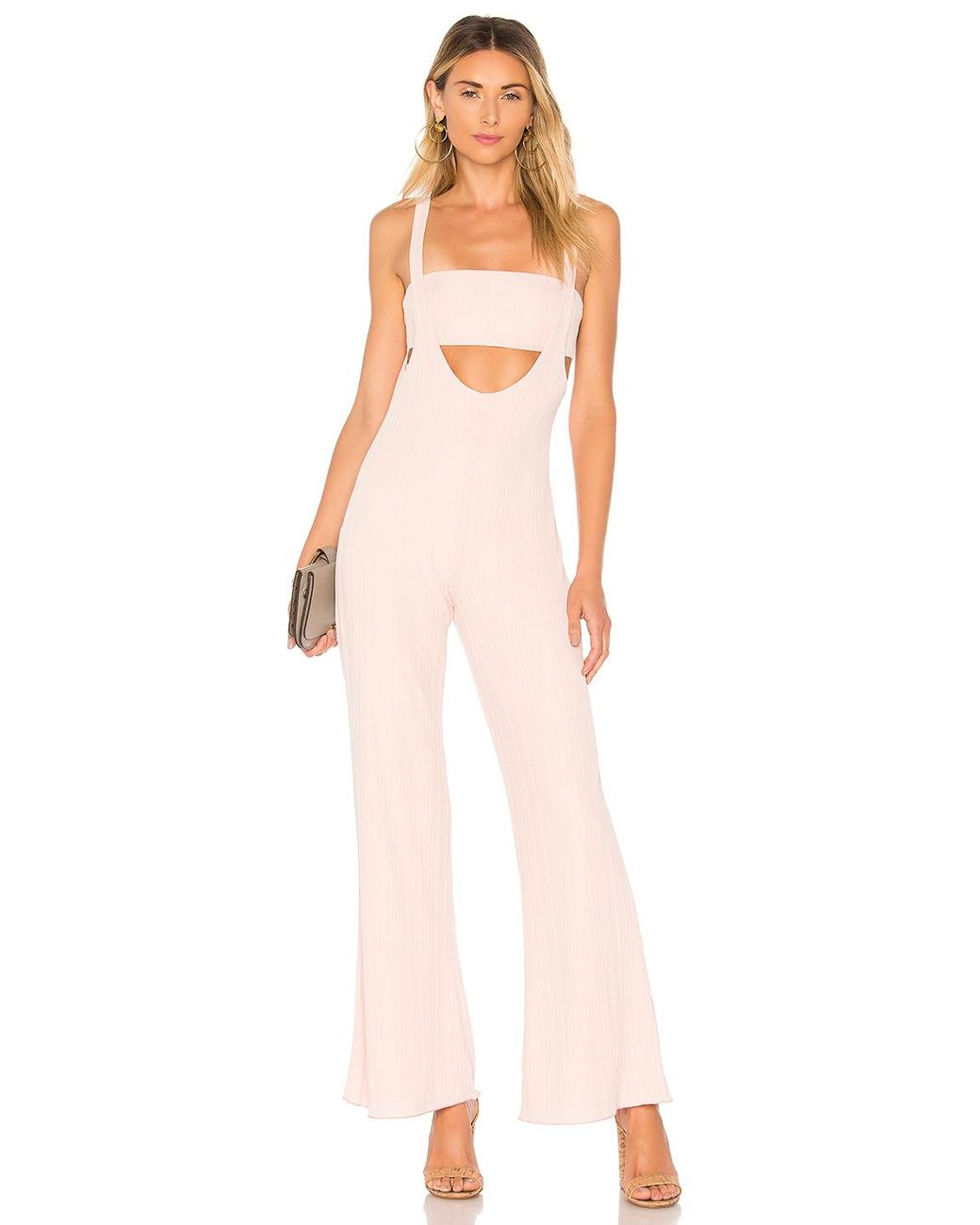 d2a36db3d10 House of Harlow 1960 X Revolve Morin Jumpsuit in Pink - Lyst