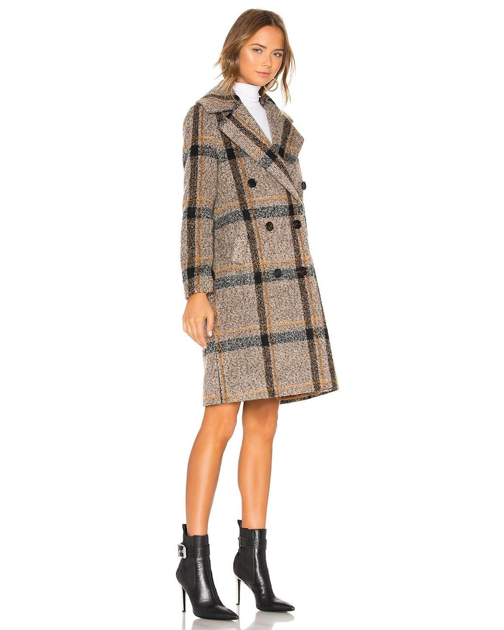 Kylie Womens Double Breasted Wool Coat Kendall
