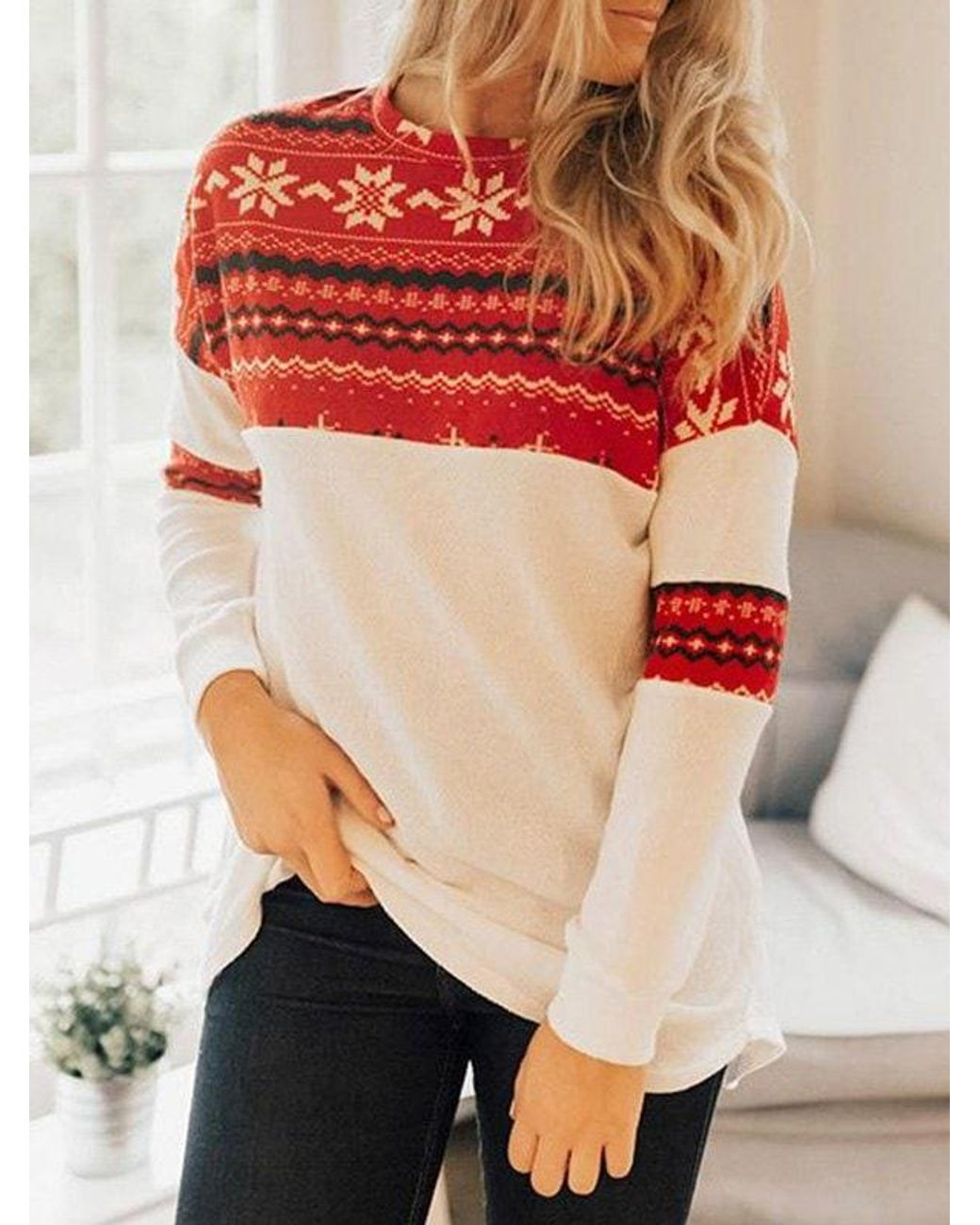 RoseGal Women Cold Shoulder Long Sleeve Crossover Sweater Knit Pullover Tunic Top