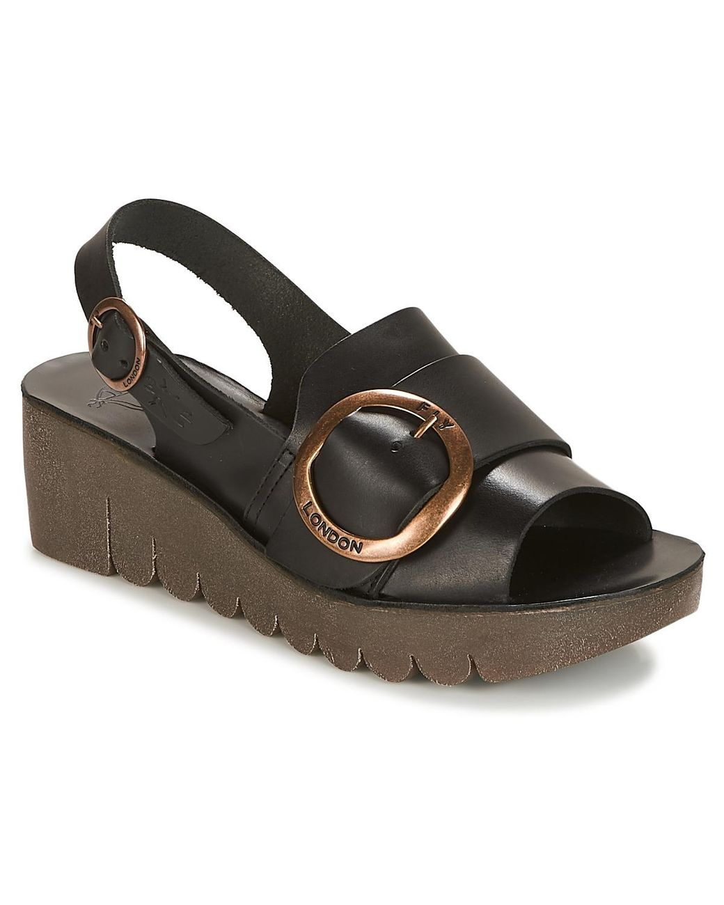 4b610d1942c8 Fly London Yidi Sandals in Black - Lyst