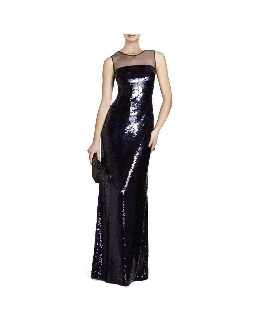 Evangeline Sequin Carbon Combo Dress Ajj6w498