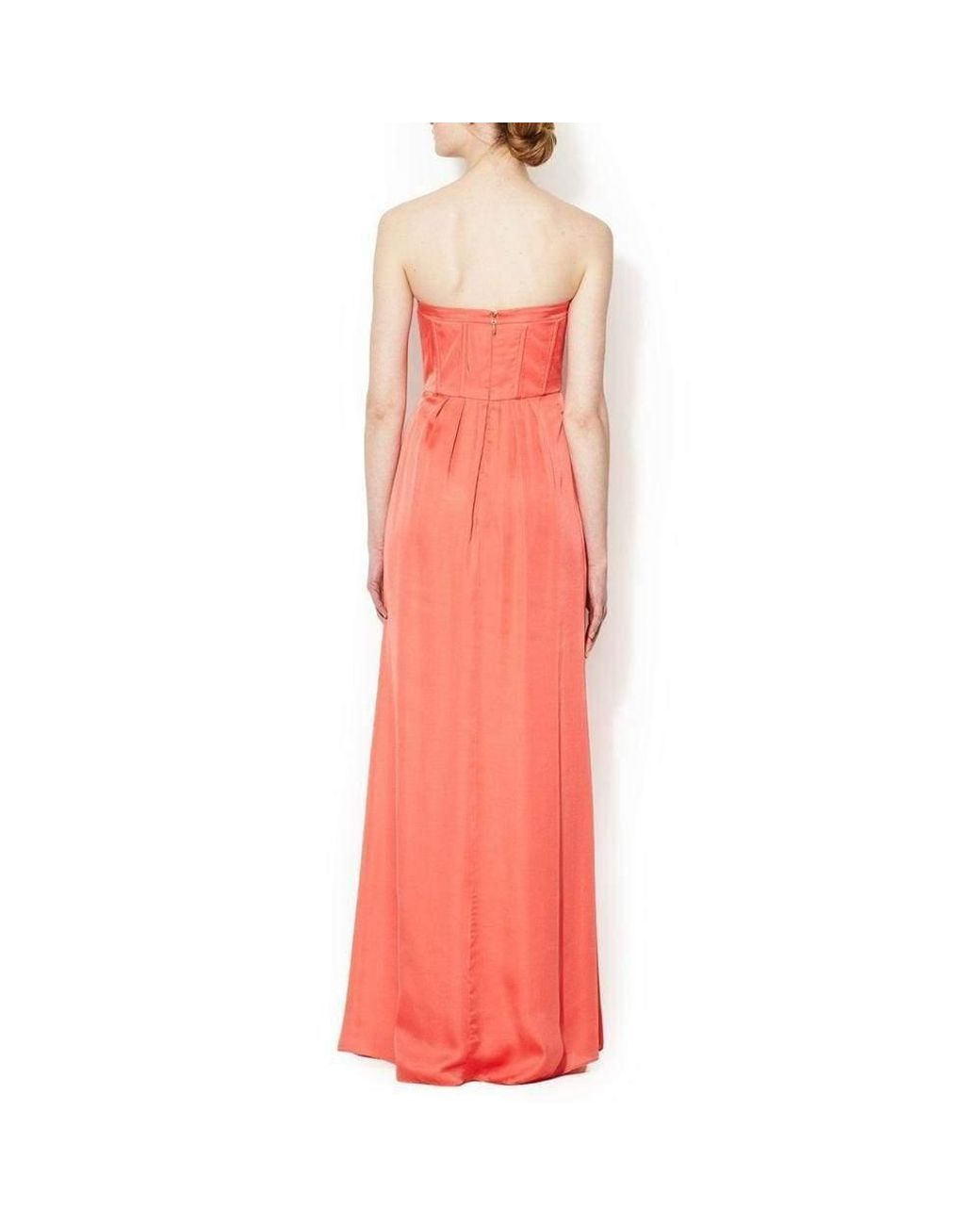 NEW BCBG Max Azria strapless corset cocktail pink salmon evening party dress