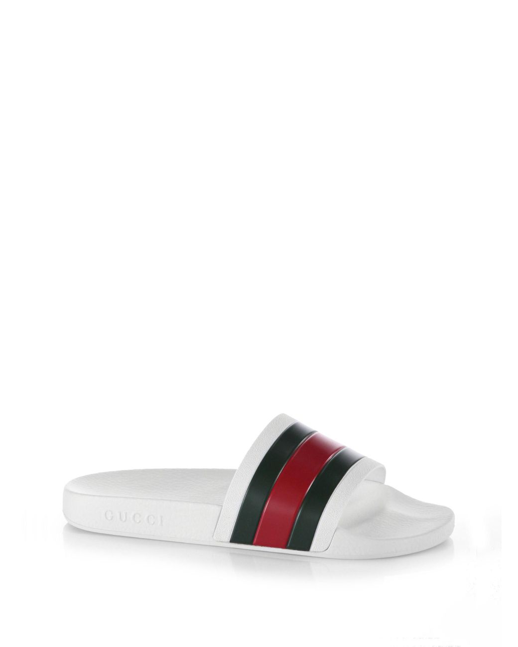 b3f1d7b909e Gucci White Pursuit Slides in White for Men - Save 17% - Lyst