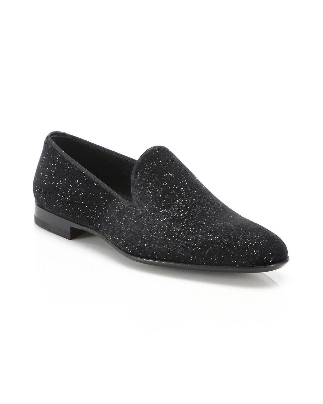 black velvet smoking slippers