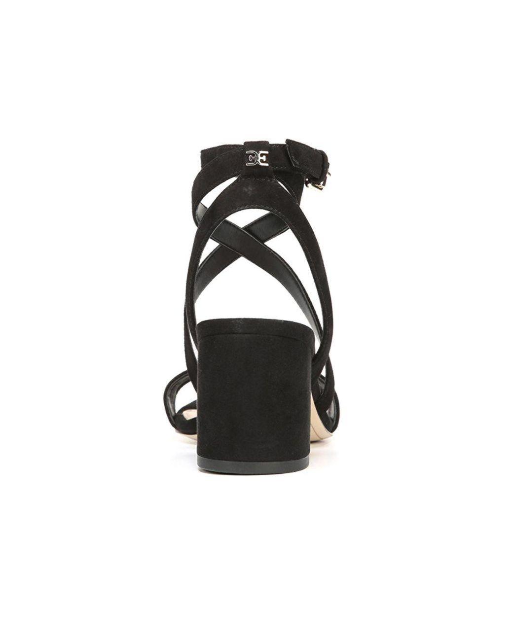 03e80b09c9f Lyst - Sam Edelman Sammy Strappy Suede Sandals in Black - Save 71%