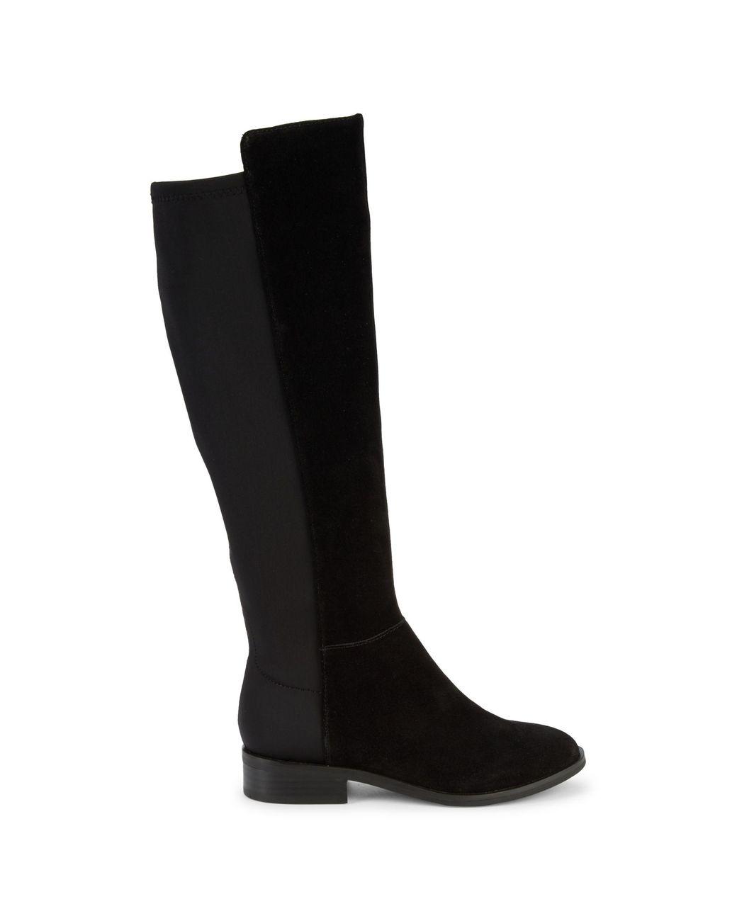 Harrah Mixed-media Tall Boots
