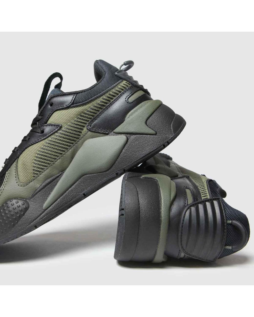 Black & Green Rs-x Winterized Trainers