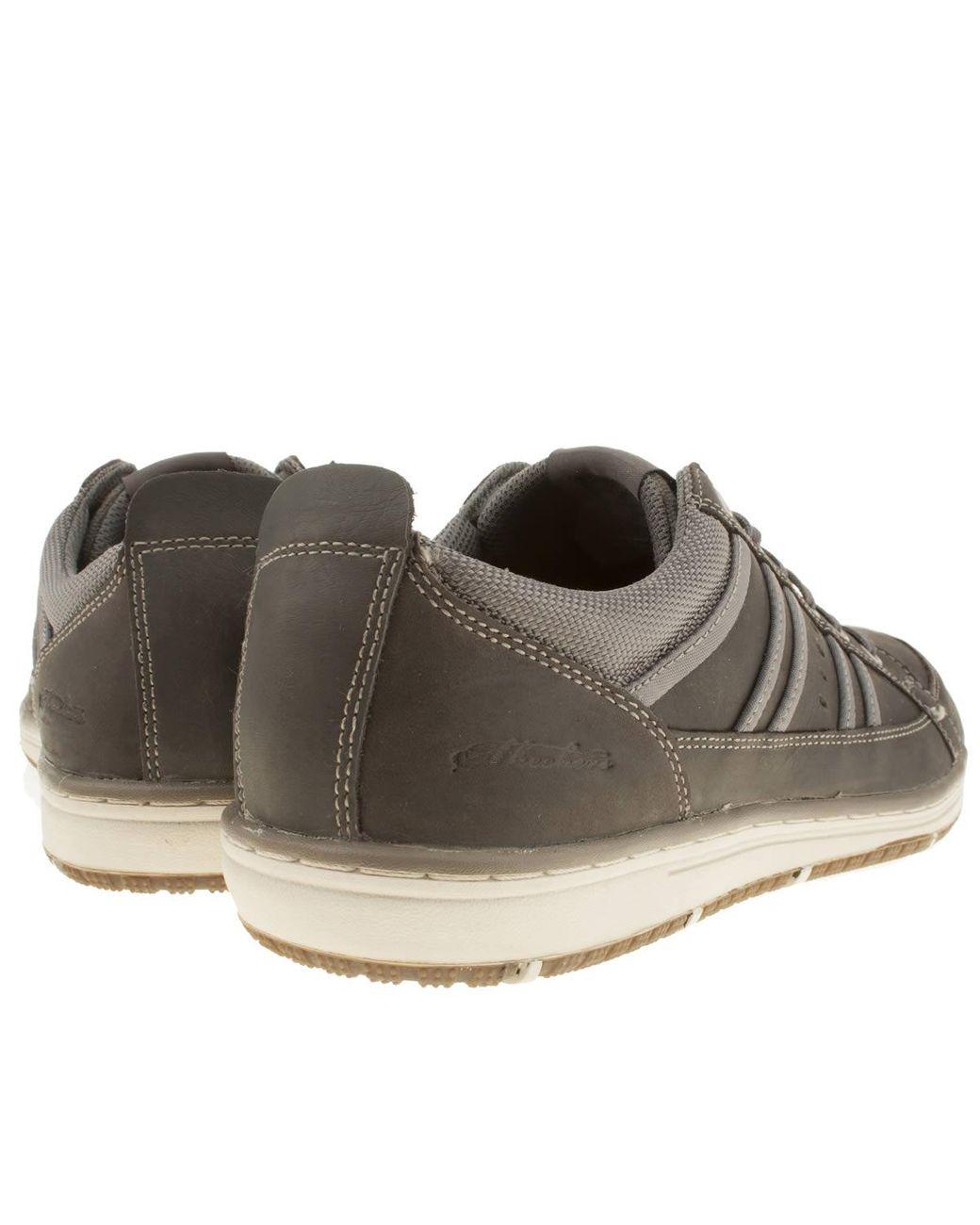 Skechers Leather Dark Grey Irvin Hamell