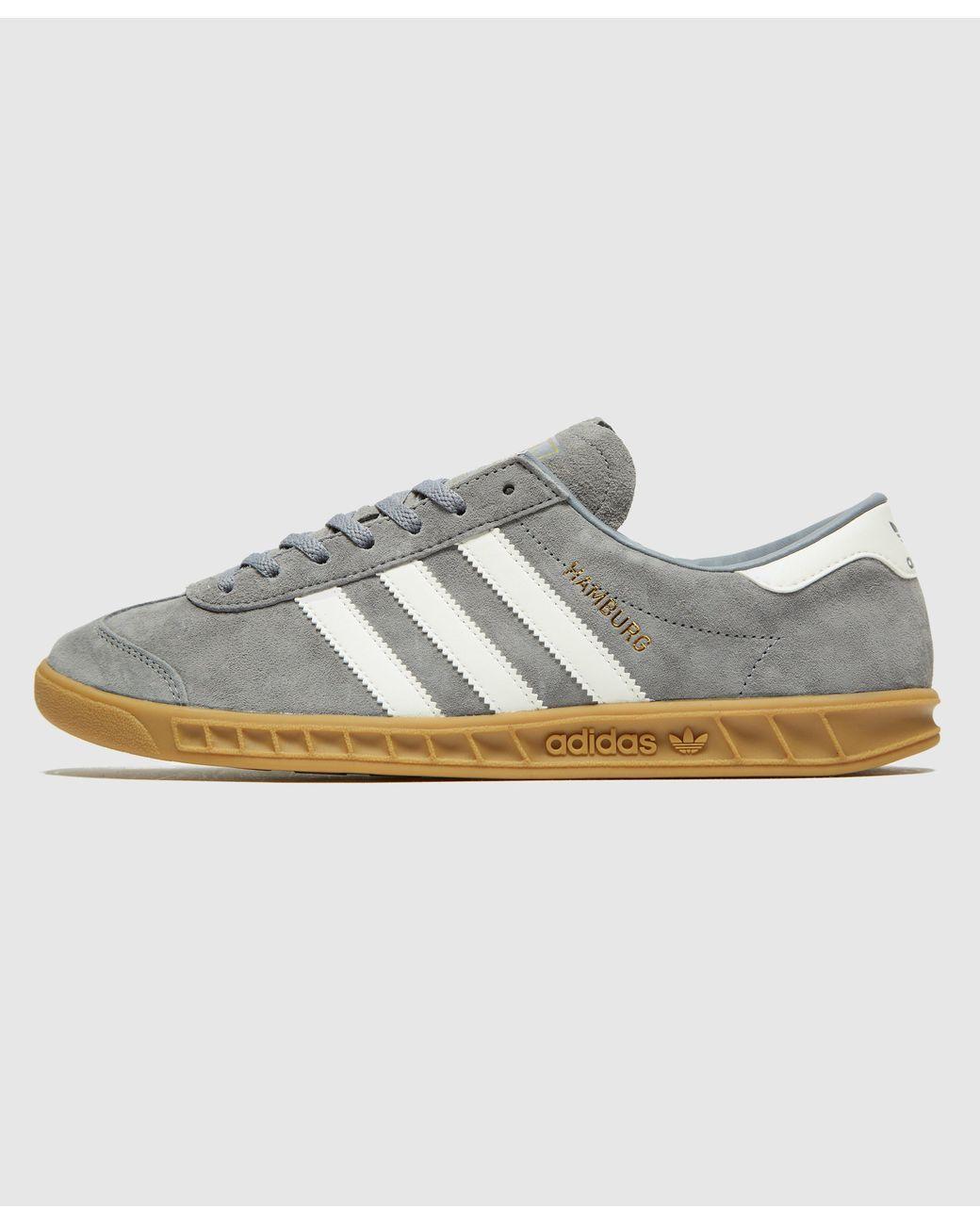 adidas Originals Leather Hamburg in Grey (Gray) for Men - Lyst