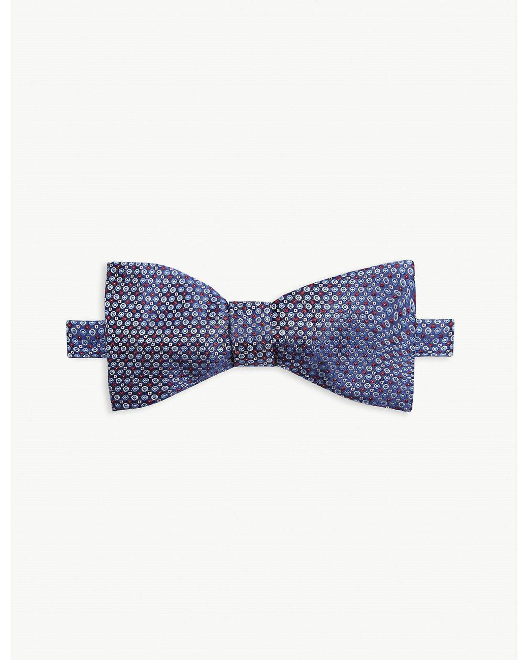 Cufflinks /& Pocket Hanky Gift Box Steel Grey Polka Dot Mens Satin Bow Tie