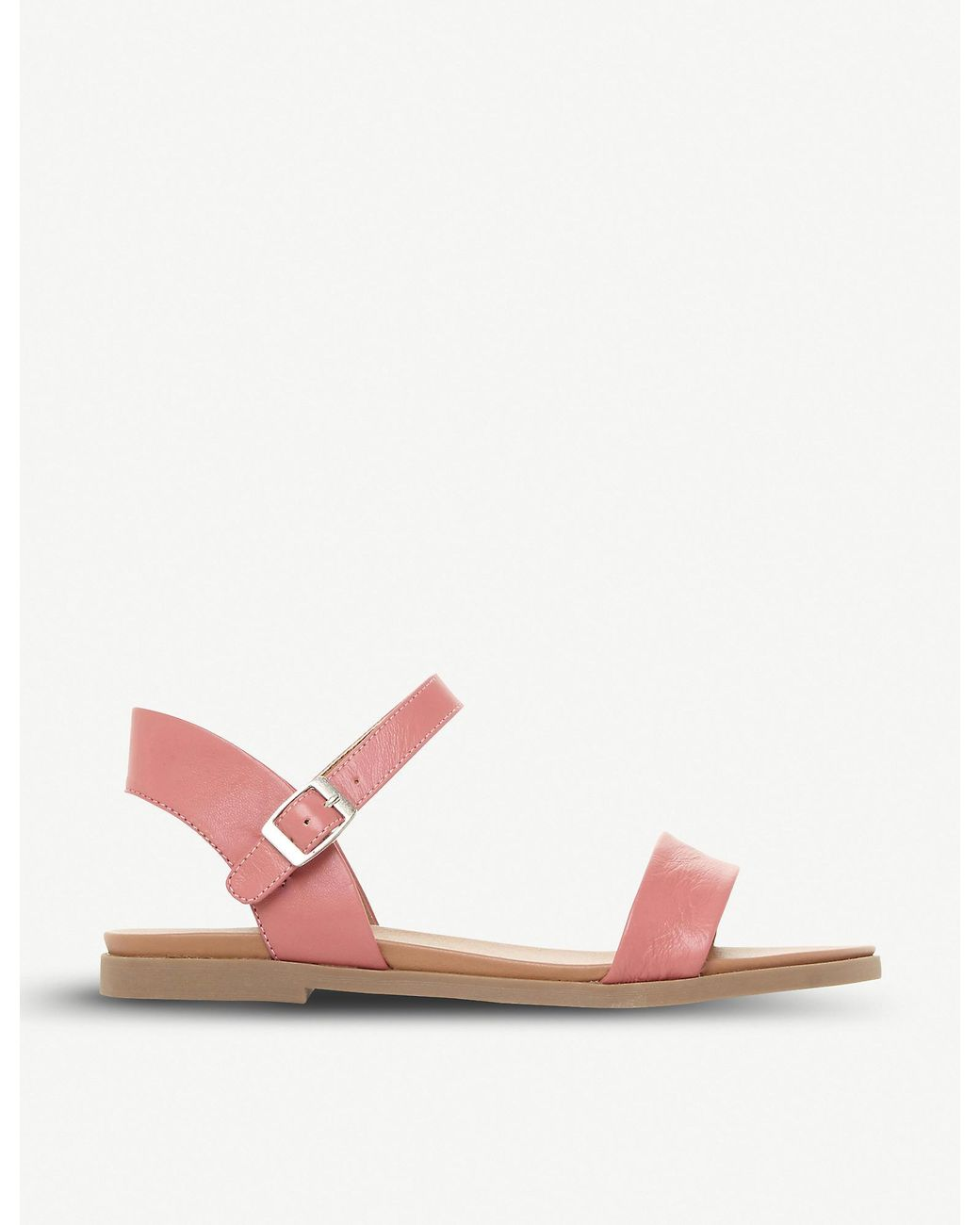 Steve Madden DINA Sandals Rose Gold Metallic Leather New With Box