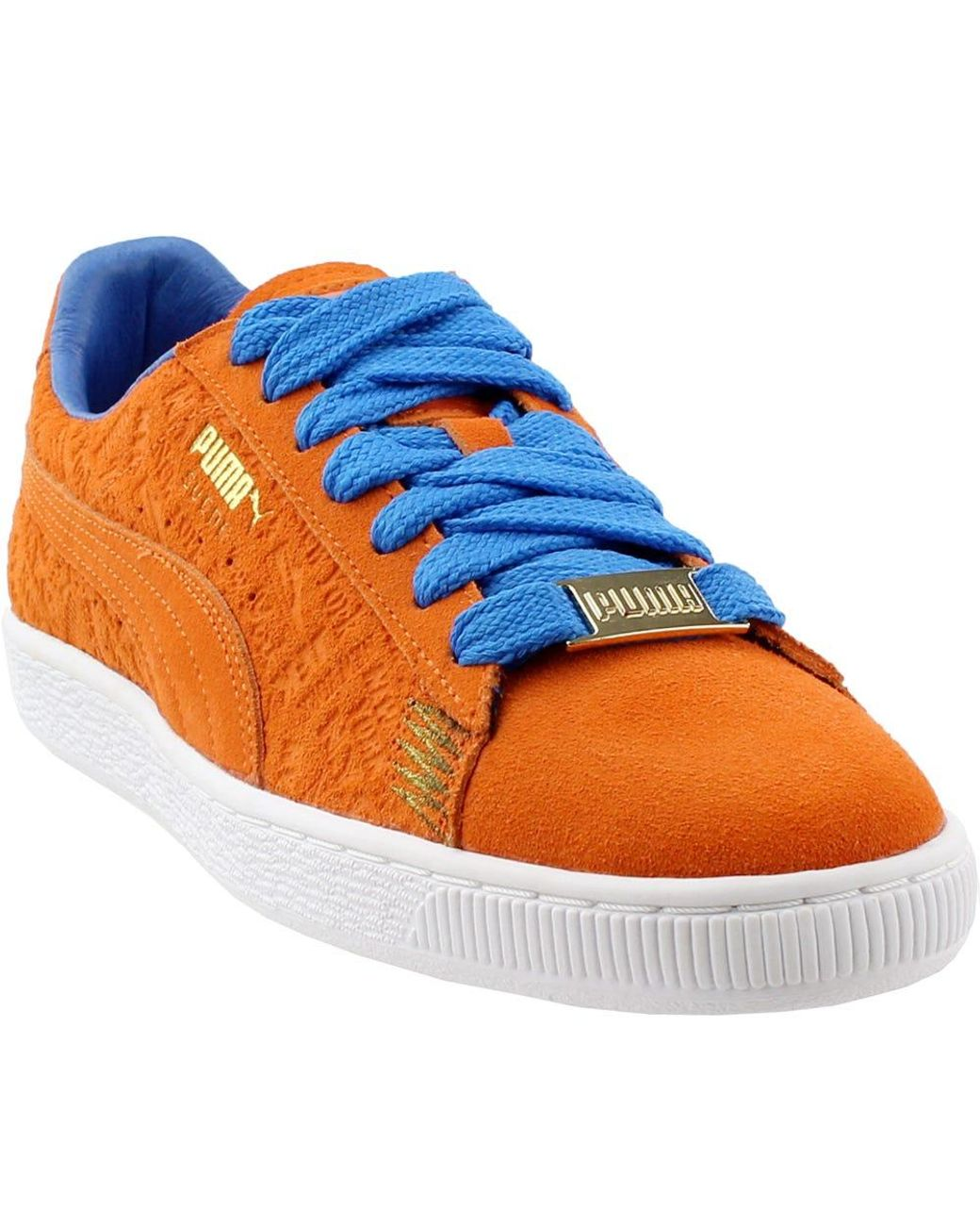 sports shoes 07013 96b2c Men's Orange Suede Classic Nyc