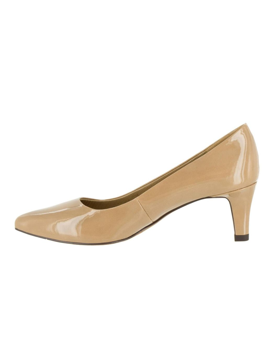 Easy Street Rubber Pointe Dress Shoe in Nude Patent (Natural