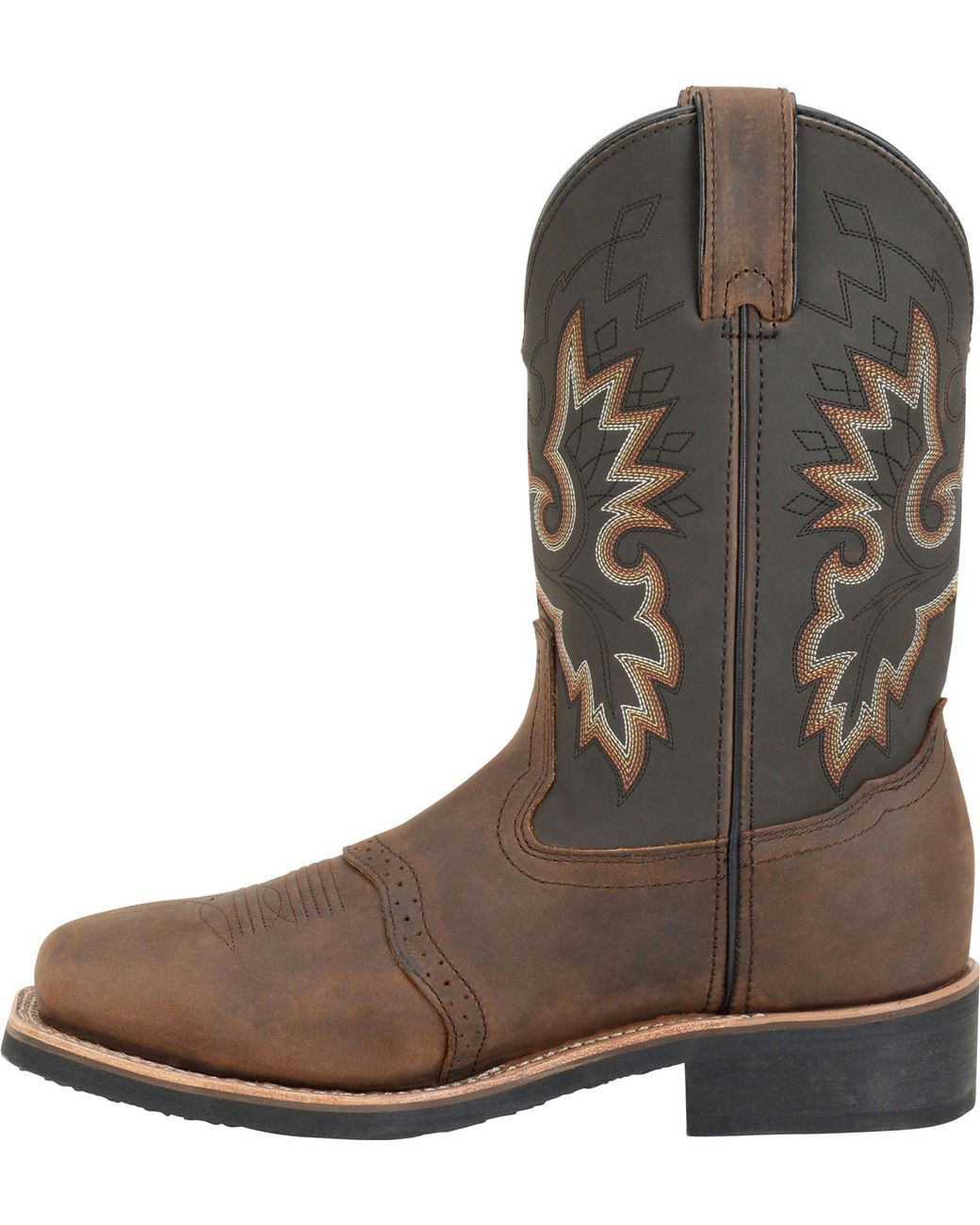 e29552f5edc Men's Brown 11 Inch Wide Square Safety Toe Roper