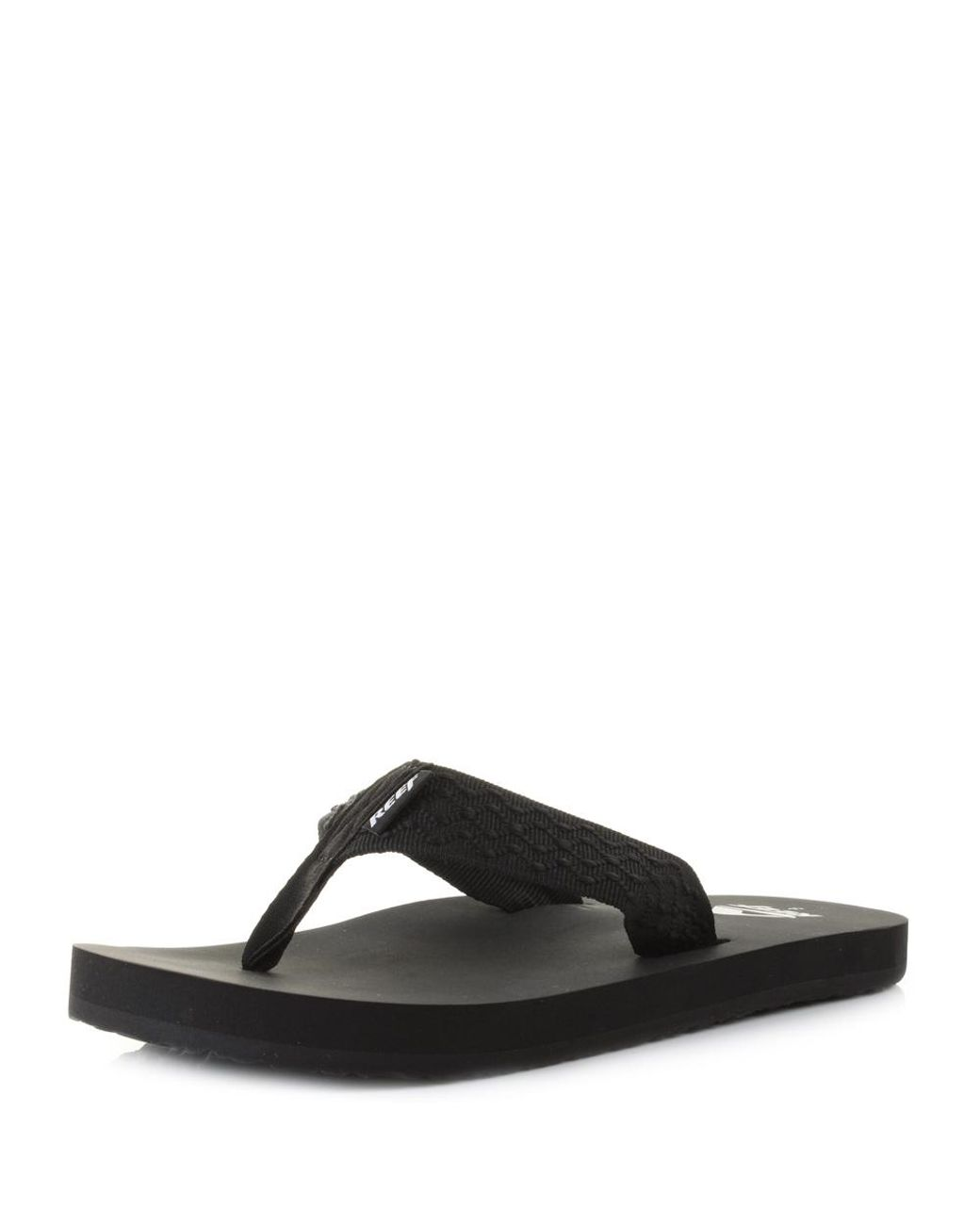 12b49009f38e Reef Smoothy Flip Flops in Black for Men - Lyst