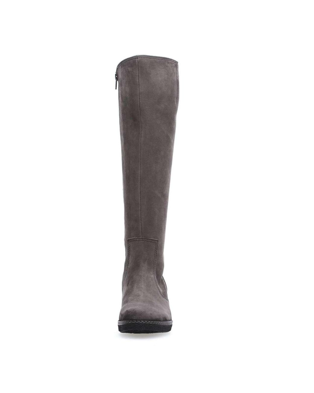 undefeated x well known detailed pictures Gabor Leather Wo Knee High Boots Grey Athen 76.667.31 in Gray - Lyst