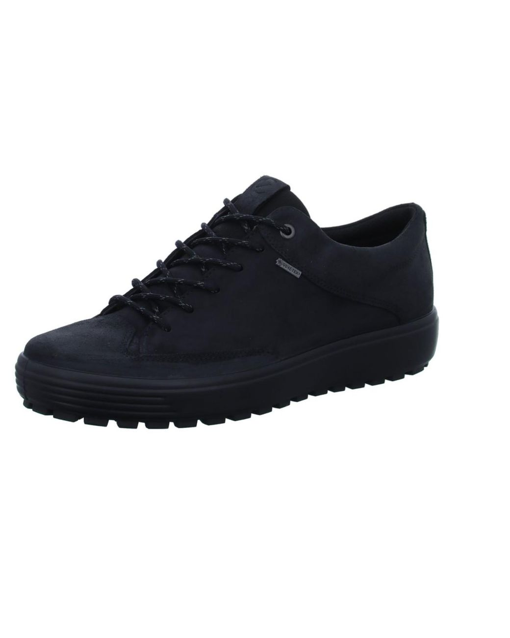 Ecco Suede Trainers Black Soft 7 Tred