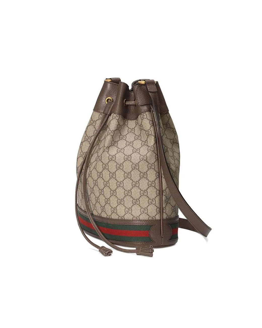 15404a38623e Lyst - Gucci Neutral Ophidia GG Bucket Bag