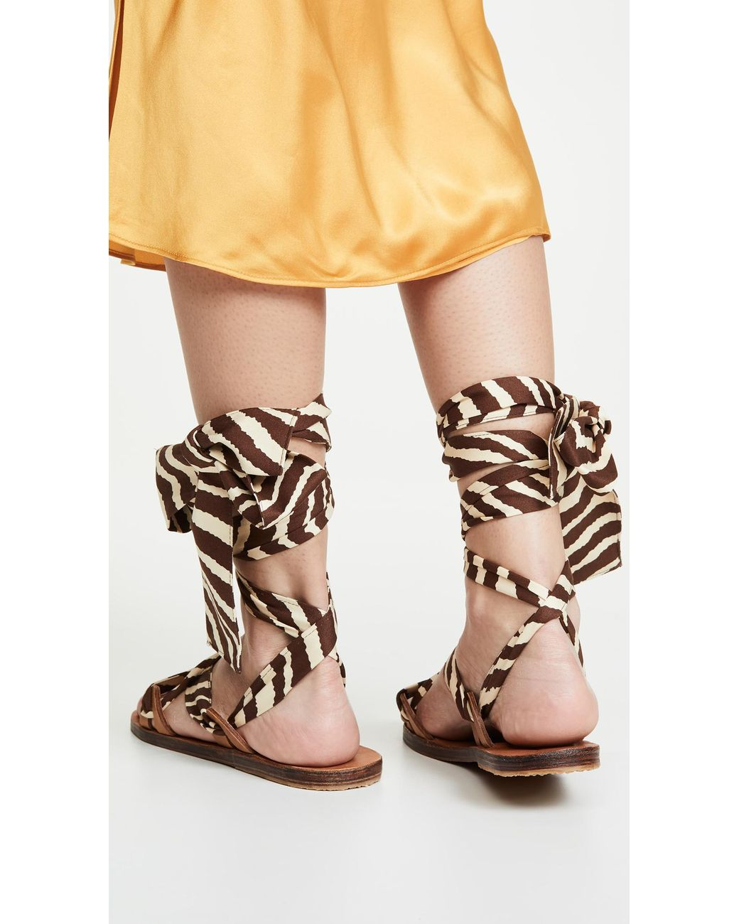 SAM EDELMAN Hampton Snakeskin Print Caged Heels Sandals Beige Jewel Leather $170