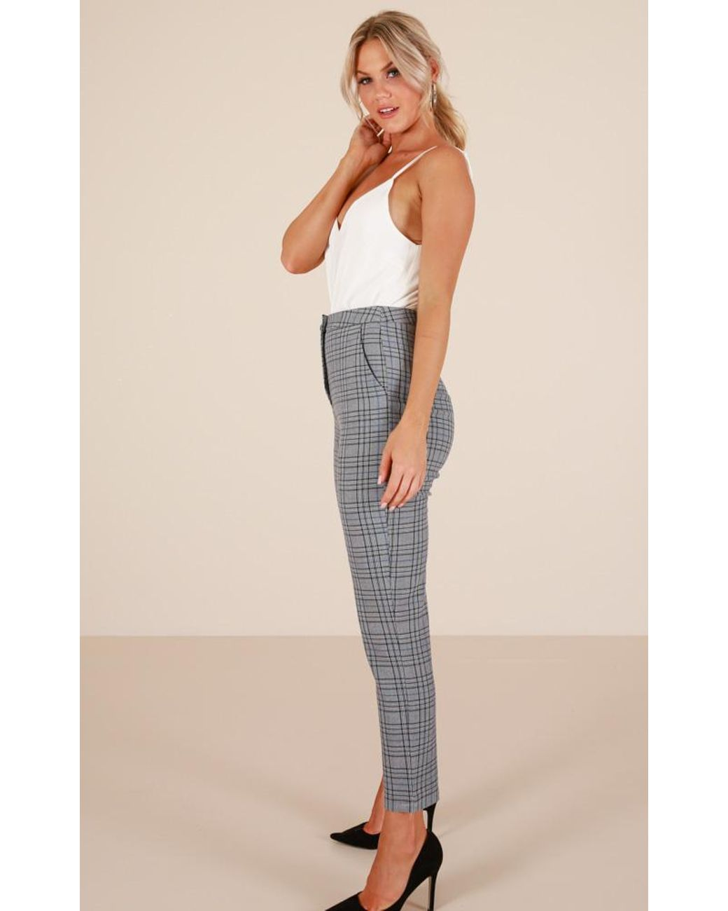 aa57107a3e22 Showpo Ahead Of The Game Pants in Gray - Lyst